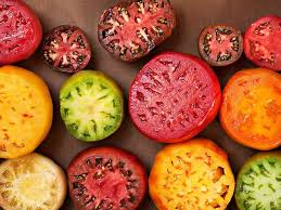 Heirloom Tomatoes come in many eye-popping colors.