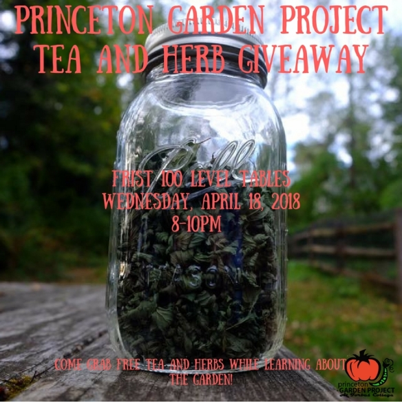 Princeton Garden Project Tea and Herb Giveaway
